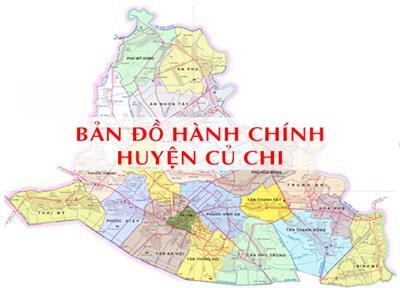 Bản đồ Hành chính Huyện Củ Chi TPHCM khổ lớn năm 2021