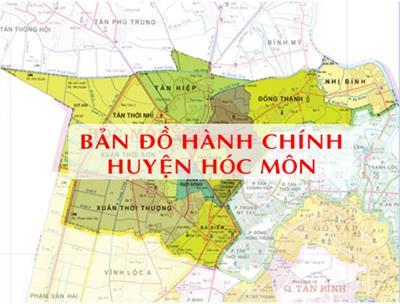 Bản đồ Hành chính Huyện Hóc Môn TPHCM khổ lớn năm 2021