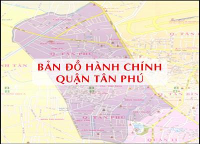 Bản đồ Hành chính Quận Tân Phú TPHCM khổ lớn năm 2021
