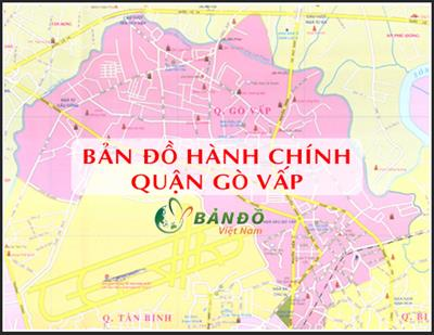 Bản đồ Hành chính Quận Gò Vấp tại TPHCM khổ lớn năm 2021