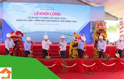 Tiến độ dự án nâng cấp Quốc lộ 30 Cao Lãnh Hồng Ngự