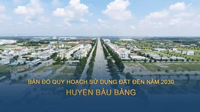 Bản đồ quy hoạch sử dụng đất tại huyện Bàu Bàng đến năm 2030