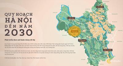 Bản đồ hành chính các quận TP Hà Nội khổ lớn 2021