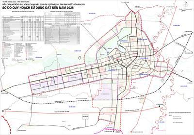 Thông tin quy hoạch Thành phố Đồng Xoài, tỉnh Bình Phước