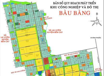 Bản đồ quy hoạch sử dụng đất tại Huyện Bàu Bàng khổ lớn