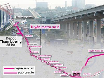 Toàn cảnh Tuyến Metro số 2: Củ Chi - Thủ Thiêm (tuyến Bà Quẹo)