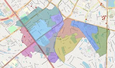 Bản đồ Hành chính Quận Thanh Xuân khổ lớn năm 2021