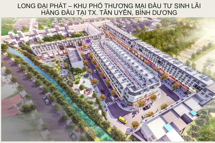 Phối cảnh dự án nhà phố Khu thương mại Đại Phát