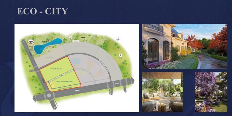 Mặt bằng phân lô khu Eco-City của Kỳ Co Gateway