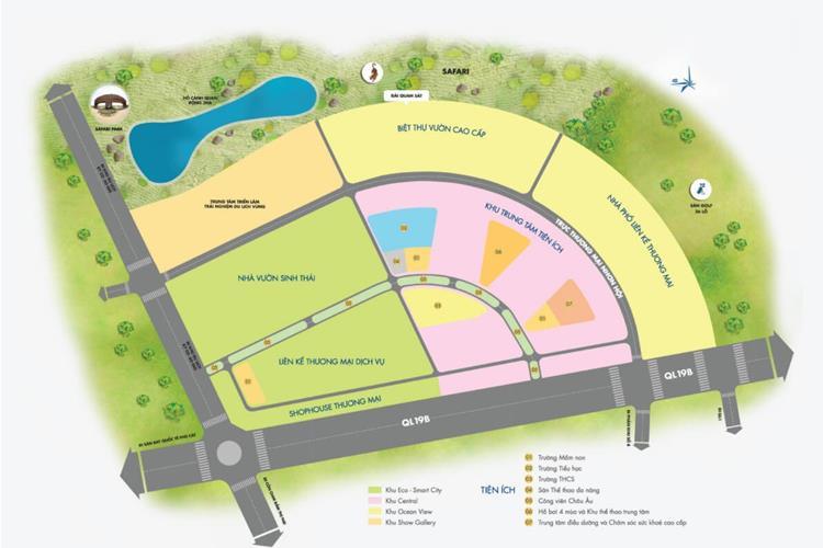 Mặt bằng phân lô toàn khu dự án đất nền Kỳ Co Gateway Quy Nhơn