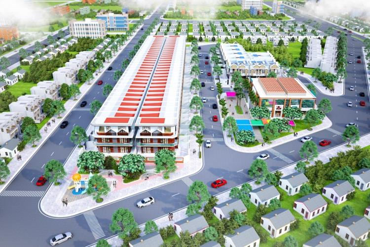 Phối cảnh dự án đất nền Lavender Central Mall Bình Dương