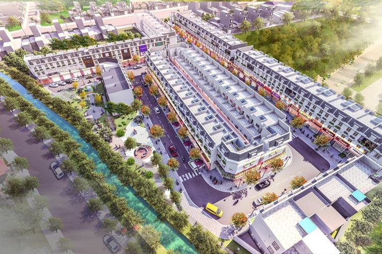 Phối cảnh dự án nhà phố Đại Phát Mall Town Bình Dương