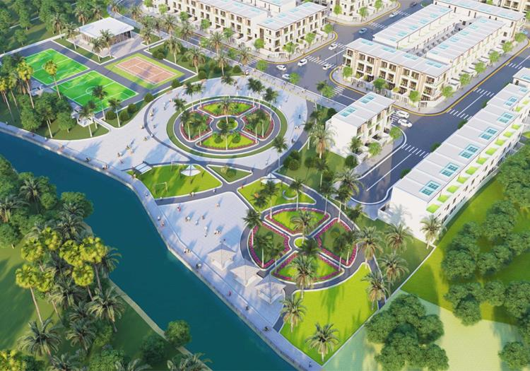Công viên dự án đất nền Vita Riverside Tân Uyên Bình Dương