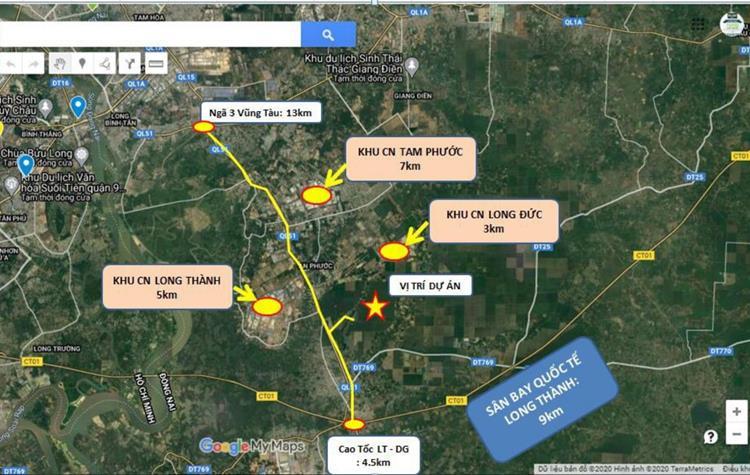 Vị trí dự án Gem Sky World trên Google Maps