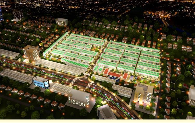 Phối cảnh dự án Khu đô thị Phương Toàn Phát Bến Cát
