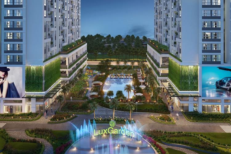 Phối cảnh cổng chính dự án căn hộ Lux Star Quận 7