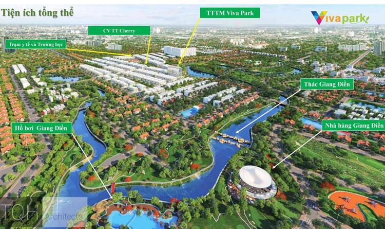 Phối cảnh dự án khu đô thị Viva Park Trảng Bom Đồng Nai