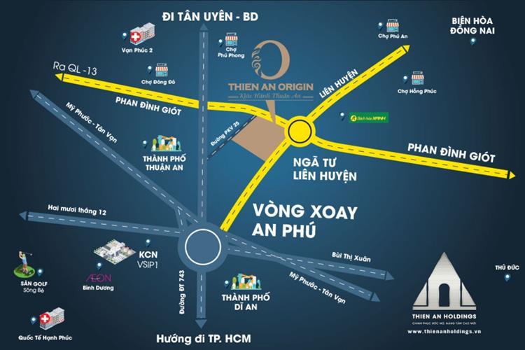 Dự án đất nền Thiên An Origin Bình Dương  Các dự án BĐS Thuận An Bình Dương o447 606377