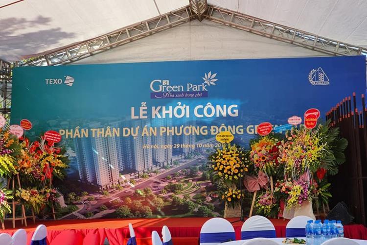 Lễ khởi công dự án chung cư Phương Đông Green Park Hà Nội