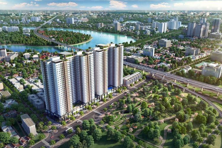 Phối cảnh dự án chung cư Phương Đông Green Park Hà Nội