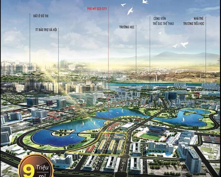 Phối cảnh dự án Phú Mỹ Eco City Bà Rịa