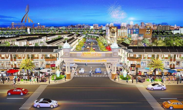Cổng chính dự án Bình Dương Avenue City