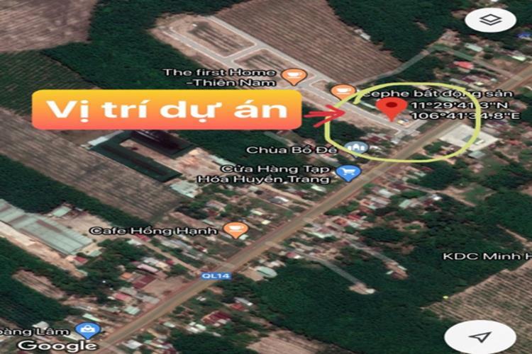 Vị trí dự án khu dân cư Chơn Thành Bình Phước
