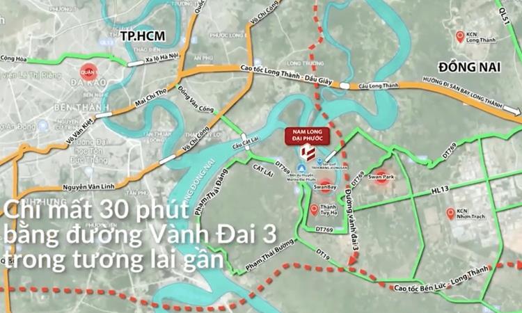 Vị trí dự án khu đô thị Nam Long Paragon Đại Phước