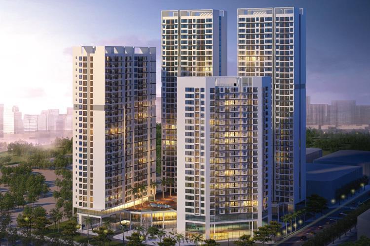 Phối cảnh chính thức dự án căn hộ Green Tower Dĩ An
