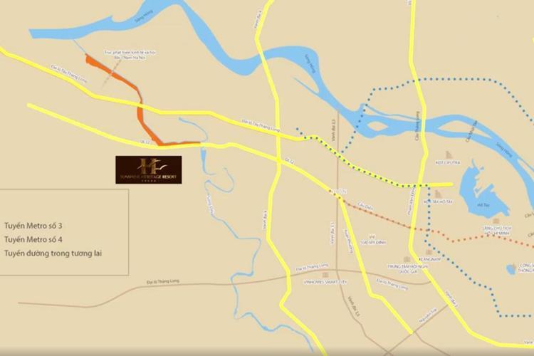 Vị trí dự án Sunshine Heritage Resort thừa hưởng hệ thống hạ tầng giao thông