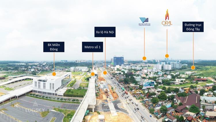 Vị trí kế cận của dự án căn hộ LDG Sky