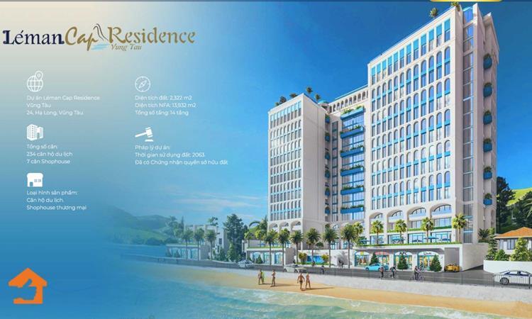 Phối cảnh dự án căn hộ Leman Cap Residence tại Vũng Tàu