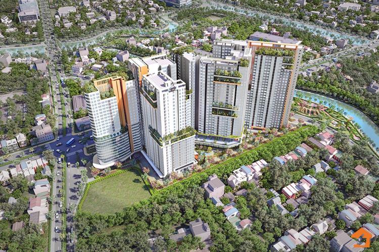 Toàn cảnh dự án căn hộ Aster Garden Towers (Tecco City) Bình Dương