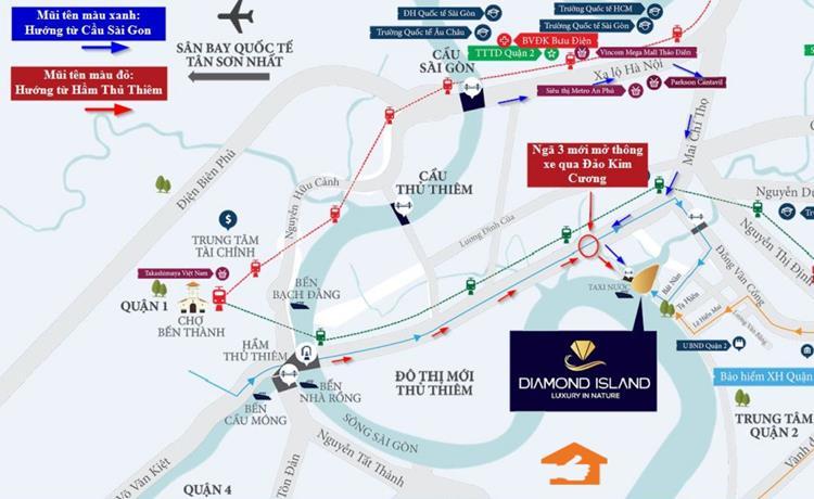 Đảo Kim Cương Diamond Island