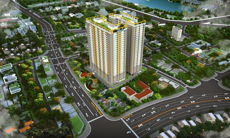 Phối cảnh dự án căn hộ Bcons Plaza Bình Dương