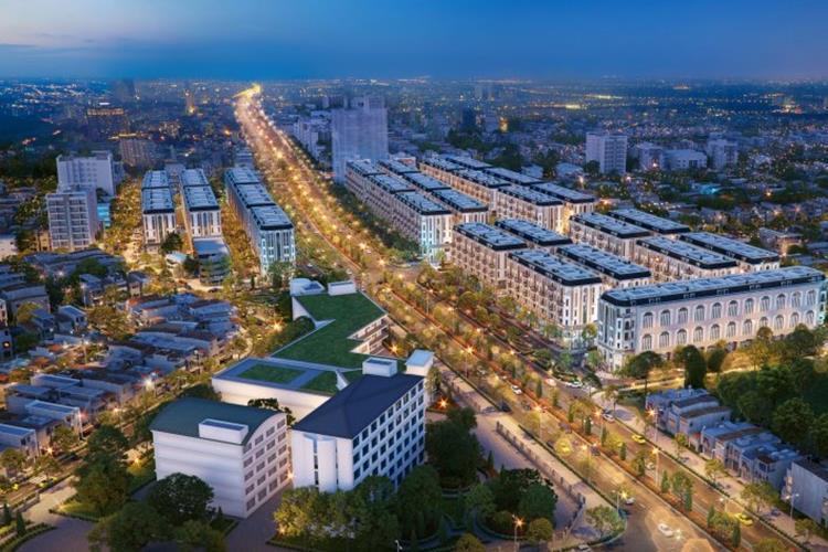 Phối cảnh dự án nhà phố Him Lam Vạn Phúc