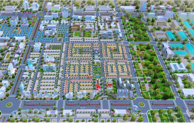 Phối cảnh dự án khu đô thị Mega City 2 tại Nhơn Trạch