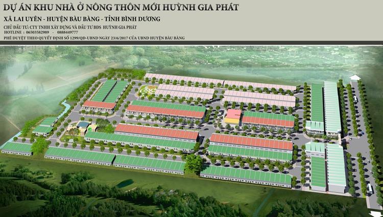 Phối cảnh dự án Huỳnh Gia Residence Bàu Bàng