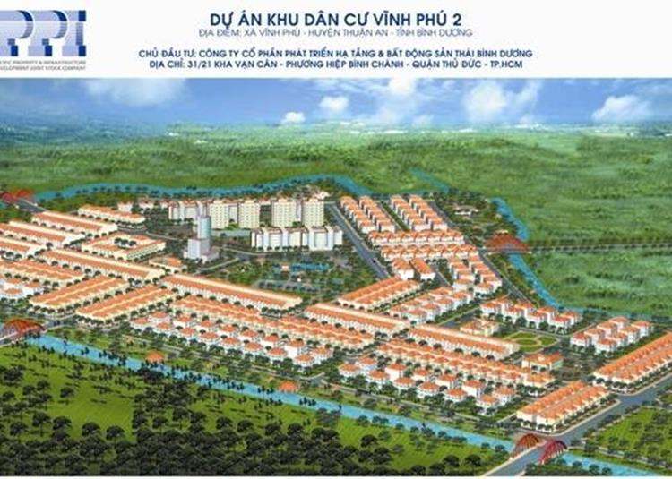 Phối cảnh dự án đất nền Khu dân cư Vĩnh Phú 2