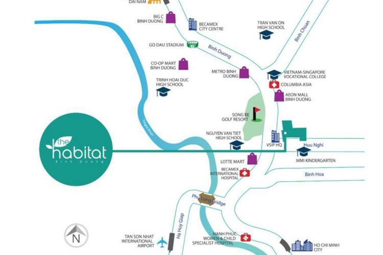 Vị trí dự án The Habitat giai đoạn 3