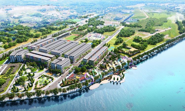 Phối cảnh dự án đất nền Chu Lai Riverside tại Núi Thành