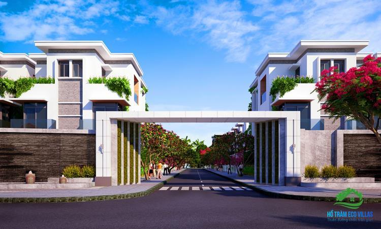 Phối cảnh cổng chính dự án Hồ Tràm Eco Villas