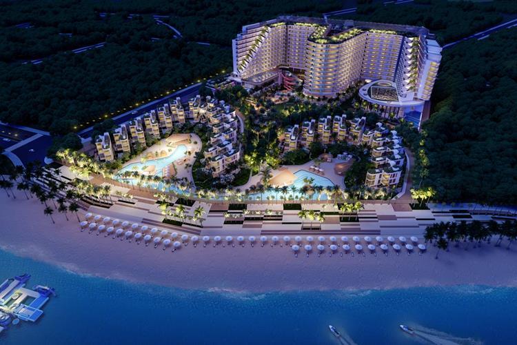 Phối cảnh ban đêm dự ánNghỉ Dưỡng 5 Sao Charm Resort Long Hải