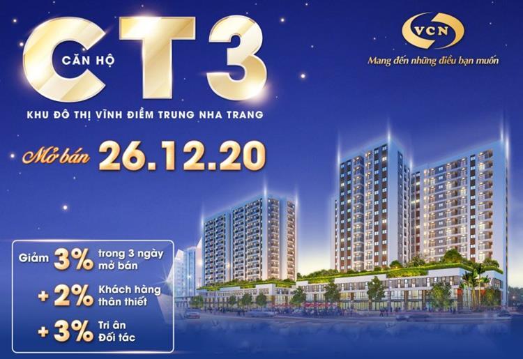 Thông tin mở bán dự án chung cư CT3 Vĩnh Điềm Trung
