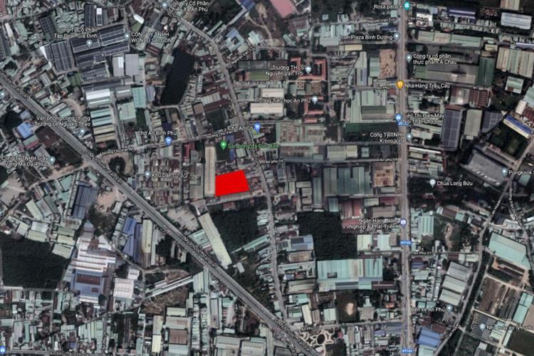 Vị trí ngay trung tâm Thuận An của Tecco Felice Homes
