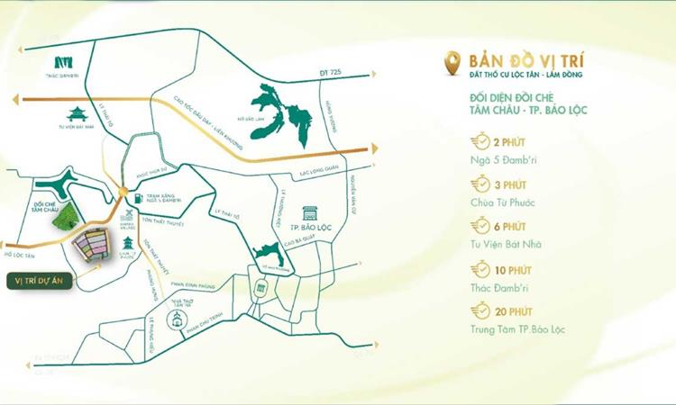 Vị trí Làng Pháp Bảo Lộc Resort & Spa