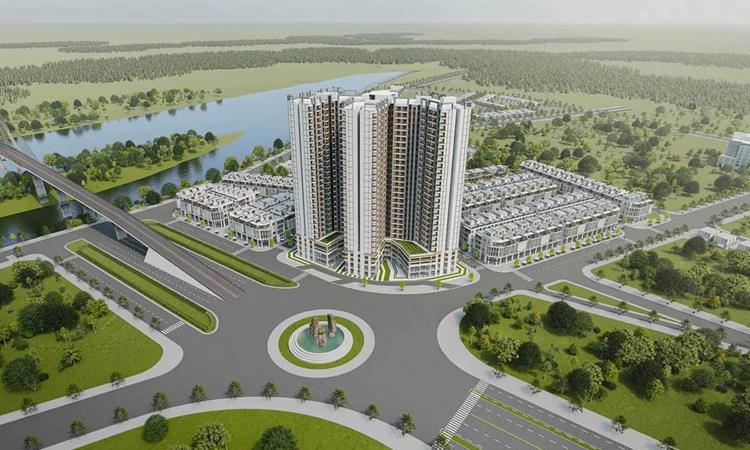 Phối cảnh khu nhà phốDiamond Square Biên Hòa