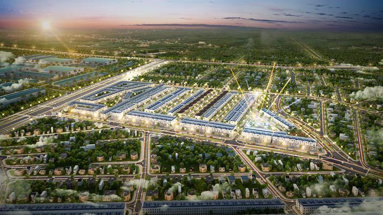 Phối cảnh dự án khu đô thị Đại Phước Molita Bàu Bàng