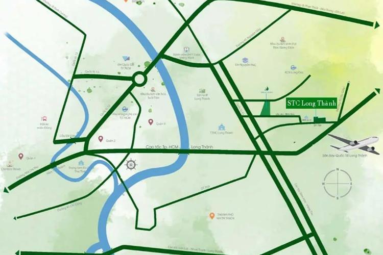 Vị trí khu đô thị STC Long Thành