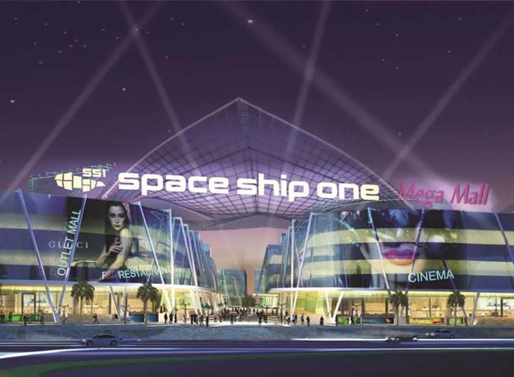 Phối cảnh khu căn hộ thương mạiDiyas SS1 Space Ship One
